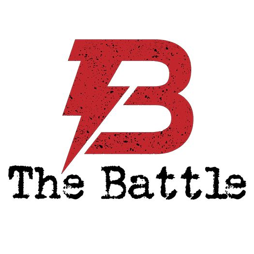 A red letter B with lightning bolt and The Battle text