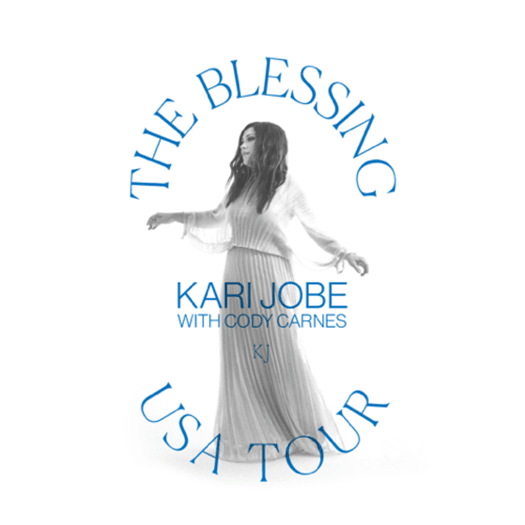 Photo of Kari Jobe with The Blessing USA Tour 2021 text
