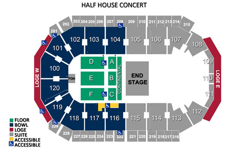 Seating charts allen event center tx official website