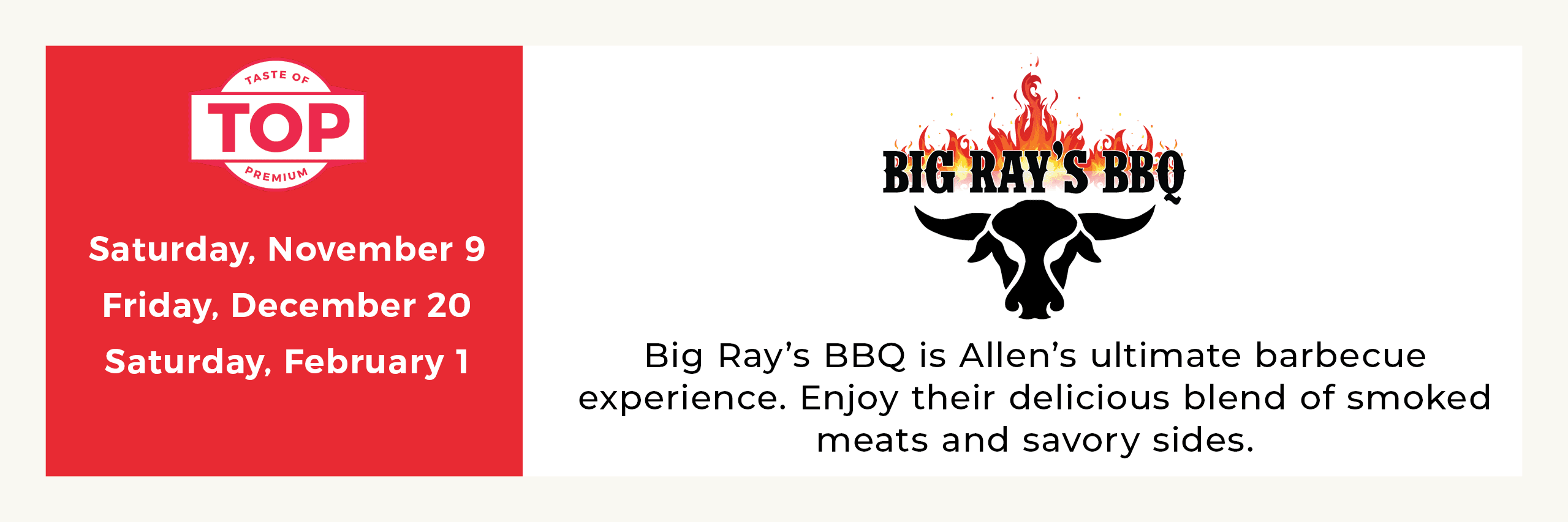 Big Rays Meal Service Opens in new window