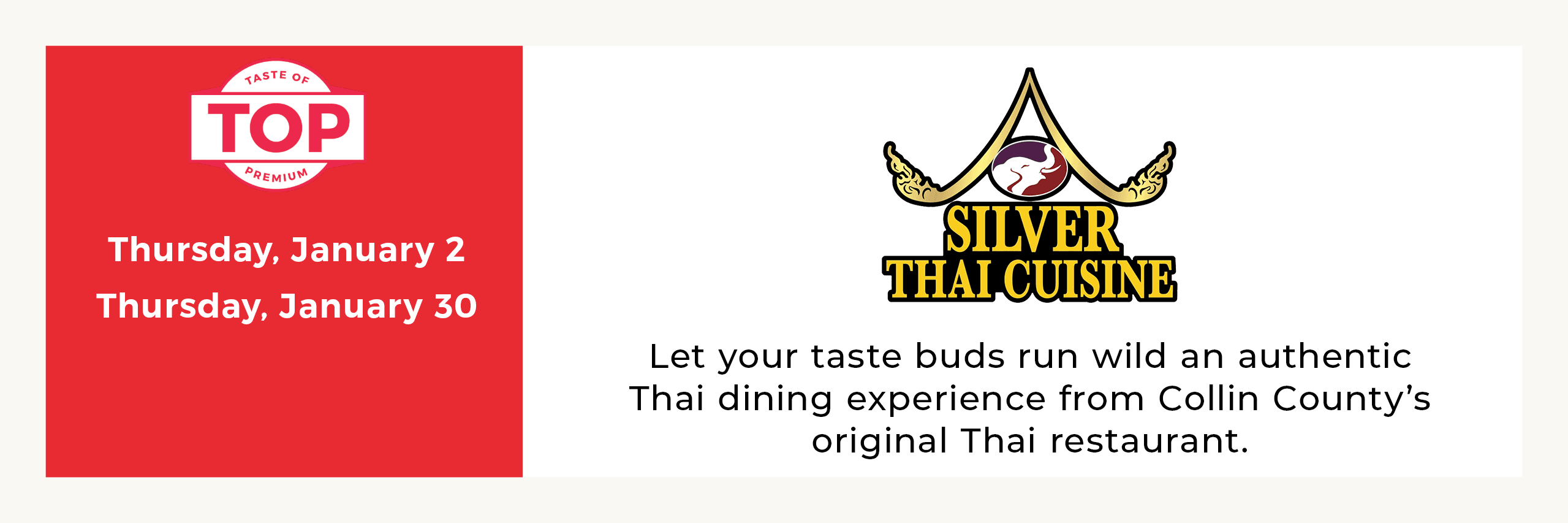 Silver Thai Meal Service Dates Opens in new window